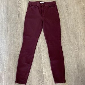 BRAND NEW American Apparel burgundy pants